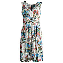 Buy Joules Sylvia Mock-Wrap Dress, Ernie Print Online at johnlewis.com