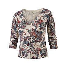 Buy Fat Face Ally Spiral Floral Cardigan, Ivory Online at johnlewis.com
