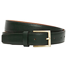 Buy Reiss Danton Formal Leather Feather Edge Belt Online at johnlewis.com