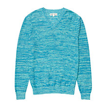 Buy Reiss Cooper V-Neck Jumper, Turquoise Online at johnlewis.com