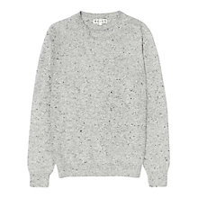 Buy Reiss Braun Flecky Cotton Mix Crew Neck Jumper Online at johnlewis.com