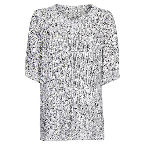Buy Mango Oversized Flecked Sweater, Grey Online at johnlewis.com