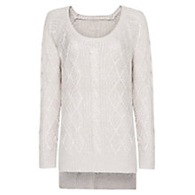 Buy Mango Cable Knit Long Sweater Online at johnlewis.com
