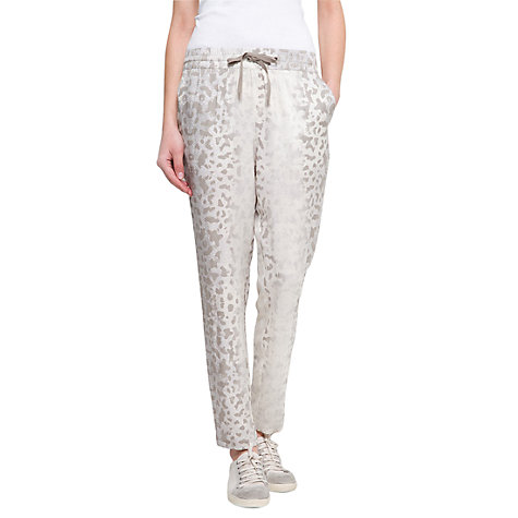 Buy Mango Tapered Print Trousers, Mystery Online at johnlewis.com