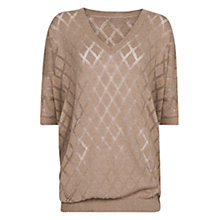 Buy Mango Diamond Openwork Sweater, Mystery Online at johnlewis.com