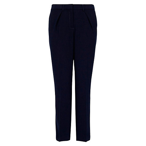 Buy Mango Cropped Suit Trousers, Navy Online at johnlewis.com