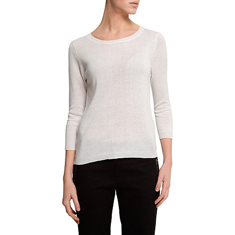 Buy Mango Glitter Dots Jumper, Off White Online at johnlewis.com