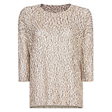 Buy Mango Metallic Fleck Jumper, Neutral Online at johnlewis.com