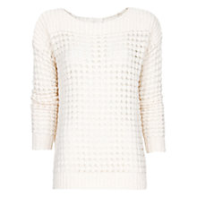 Buy Mango Openwork Jumper, Ivory Online at johnlewis.com