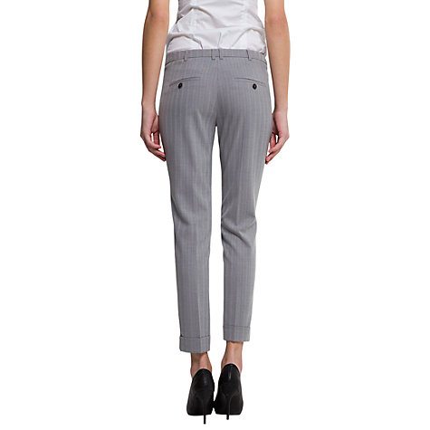 Buy Mango Striped Suit Trousers, Light Grey Online at johnlewis.com