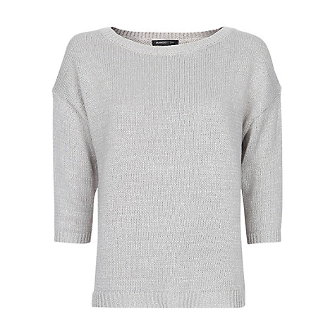 Buy Mango Metallic Knit Sweater, Grey Online at johnlewis.com
