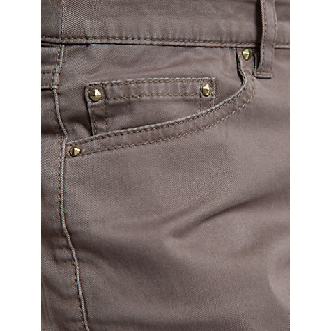 Buy Mango Zipper Slim Fit Trousers, Khaki Online at johnlewis.com
