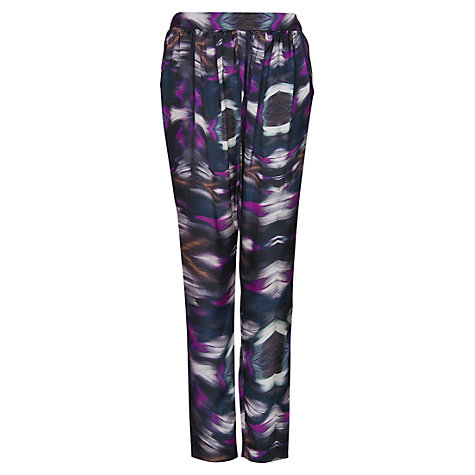 Buy Mango Printed Trousers, Purple Online at johnlewis.com