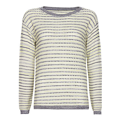 Buy Mango Stripped Open Work Jumper, Apple Online at johnlewis.com