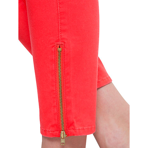Buy Mango Slim Fit Trousers, Coral Online at johnlewis.com