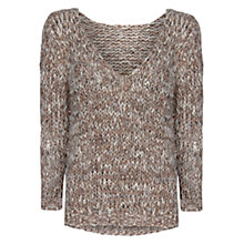 Buy Mango Chunky Knit Sweater, Stone Online at johnlewis.com