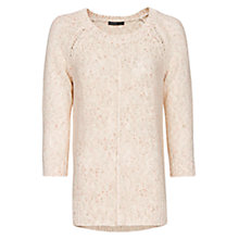 Buy Mango Flecked Sweater, Pink Online at johnlewis.com