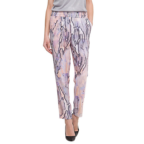Buy Mango Print Tapered Trousers, Mandarin Online at johnlewis.com