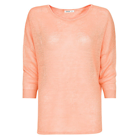 Buy Mango Metallic Stripe Jumper, Mandarin Online at johnlewis.com