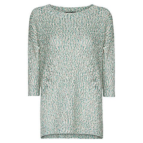 Buy Mango Metallic Fleck Jumper, Emerald Green Online at johnlewis.com