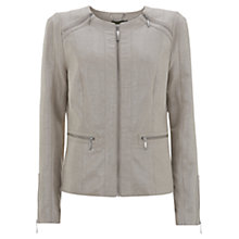Buy Mint Velvet Zip Shoulder Jacket Online at johnlewis.com