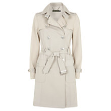 Buy Mint Velvet Contrast Trench Coat, Stone Online at johnlewis.com