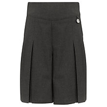 Buy John Lewis Girls' Adjustable Waist School Culottes, Grey Online at johnlewis.com