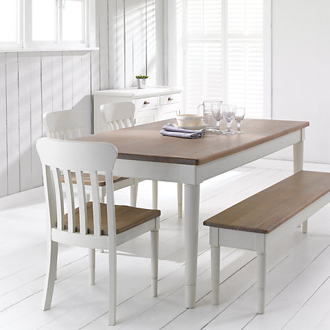 Buy John Lewis Drift Rectangular 6 Seater Dining Table, White Online at johnlewis.com
