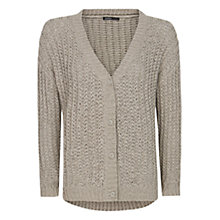 Buy Mango Ribbed Knit Cardigan, Mystery Online at johnlewis.com