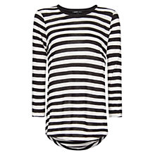 Buy Mango Striped T-Shirt, Off White Online at johnlewis.com
