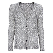 Buy Mango Irregular Knit Cardigan, Black Online at johnlewis.com