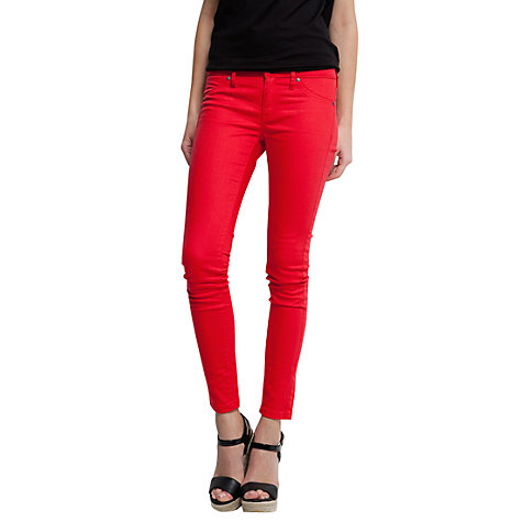 Buy Mango Super Slim Trousers, Red Online at johnlewis.com