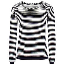 Buy Reiss Upton Striped Knit Jumper, Navy/Cream Online at johnlewis.com