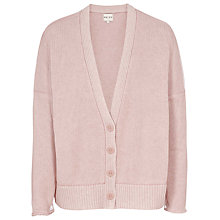 Buy Reiss Quinie Mesh Covered Cardigan, Soft Pink Online at johnlewis.com