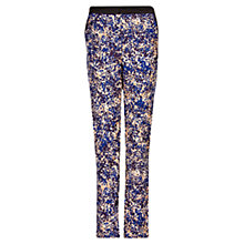 Buy Mango Printed Tapered Trousers, Ink Online at johnlewis.com