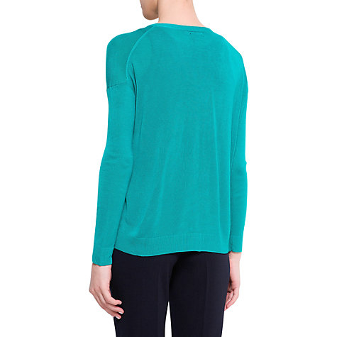 Buy Mango V-Neck Cardigan, Emerald Green Online at johnlewis.com