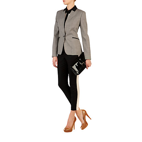 Buy Ted Baker Elvah Contrast Side Trousers, Black Online at johnlewis.com