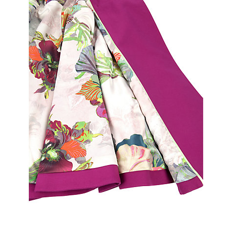 Buy Ted Baker Double Breasted Trench Coat, Fuchsia Online at johnlewis.com