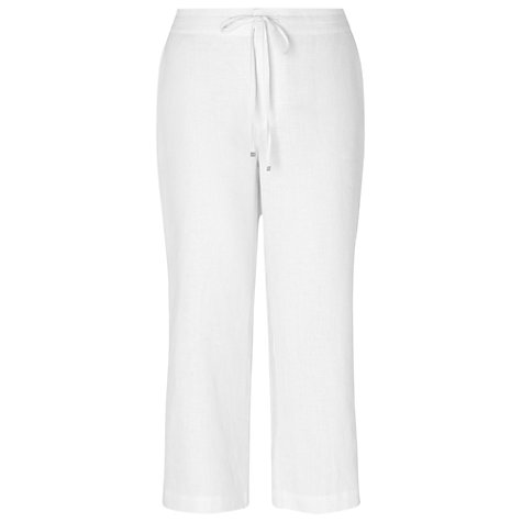 Buy Phase Eight Elena Cropped Linen Trousers, White Online at johnlewis.com