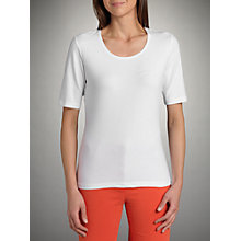 Buy Betty Barclay Round Neck Tee, White Online at johnlewis.com