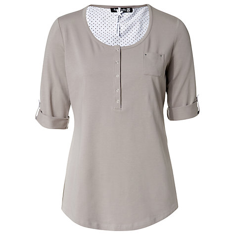Buy Betty Barclay Moon Rock Button Front T-Shirt Online at johnlewis.com