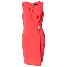 Buy Betty Barclay Wrap Dress, Hot Coral Online at johnlewis.com