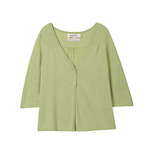 Buy Seasalt Mrs Jenkins Cardigan, Lime Online at johnlewis.com