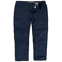 Buy Fat Face Linen Cropped Trousers, Navy Online at johnlewis.com