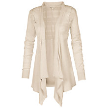 Buy Fat Face Waterfall Pointelle Cardigan, Ecru Online at johnlewis.com