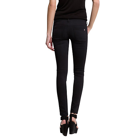 Buy Mango Super Slim Jeans, Black Online at johnlewis.com