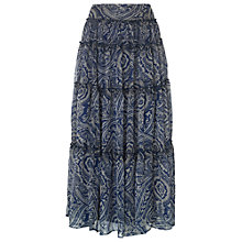 Buy Phase Eight Paisley Maxi Skirt, Ink Online at johnlewis.com
