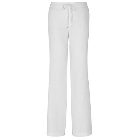 Buy Phase Eight Sadie Drawstring Trousers, White Online at johnlewis.com