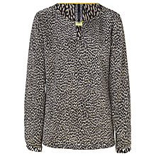 Buy Betty Barclay Animal Print Blouse, Black/Beige Online at johnlewis.com