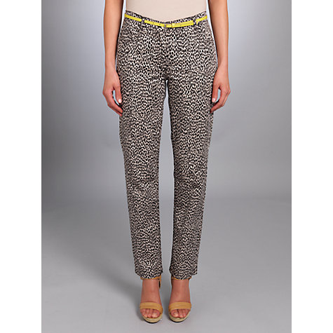 Buy Betty Barclay Animal Print Trousers, Black/Beige Online at johnlewis.com
